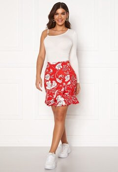 Chiara Forthi Lily flounce skirt Red / White Bubbleroom.dk