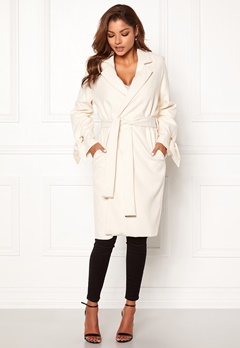 Chiara Forthi Lissabon soft coat Offwhite Bubbleroom.dk