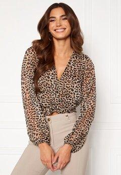 Chiara Forthi Lorenza blouse Leopard Bubbleroom.dk