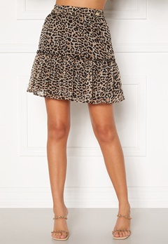 Chiara Forthi Lorenza mini skirt Leopard Bubbleroom.dk