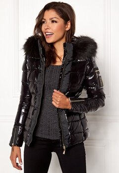 Chiara Forthi Madesimo Highgloss Down Jacket Black Bubbleroom.dk