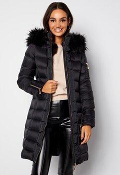 Chiara Forthi Madesimo Long Down Jacket Black bubbleroom.dk