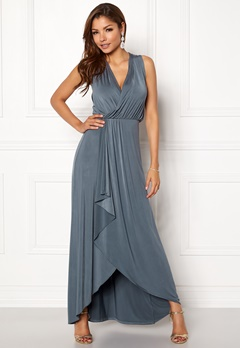 Chiara Forthi Malvina draped dress Grey Bubbleroom.dk