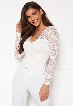 Chiara Forthi Margeaux lace top White Bubbleroom.dk
