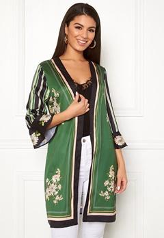 Chiara Forthi Marienela kimono Black / Green Bubbleroom.dk