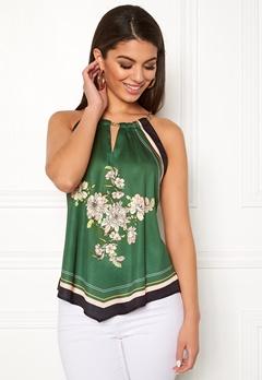 Chiara Forthi Marienela scarfs halterneck Black / Green Bubbleroom.dk