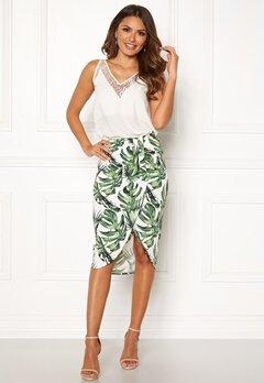 Chiara Forthi Mauritius wrap skirt White / Green / Patterned Bubbleroom.dk
