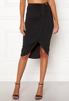 Chiara Forthi Mauritius wrap skirt Black Bubbleroom.dk