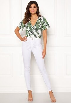 Chiara Forthi Mauritius wrap top White / Green / Patterned Bubbleroom.dk
