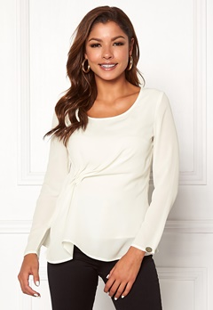 Chiara Forthi May draped top Winter white Bubbleroom.dk