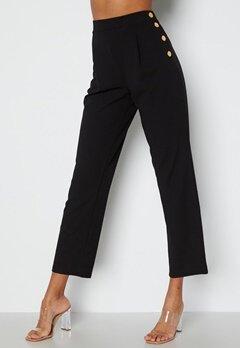 Chiara Forthi Mercede soft button trousers Black bubbleroom.dk