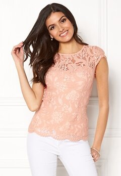 Chiara Forthi Michelle Lace Top Old rose Bubbleroom.dk