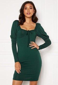 Chiara Forthi Moe puff sleeve dress Emerald green Bubbleroom.dk