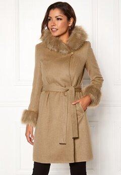 Chiara Forthi Monterosso Fur Coat Camel Bubbleroom.dk