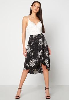 Chiara Forthi Nadia wrap skirt Black / Patterned Bubbleroom.dk