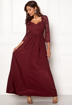 Chiara Forthi Nathalia Maxi Dress Wine-red Bubbleroom.dk
