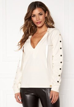 Chiara Forthi Nerina buttoned Hoody Offwhite Bubbleroom.dk