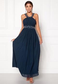 Chiara Forthi Noemi Open-back Prom Gown Dark blue / Silver Bubbleroom.dk