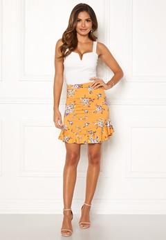 Chiara Forthi Nunzia frill jersey skirt  Yellow / Floral Bubbleroom.dk