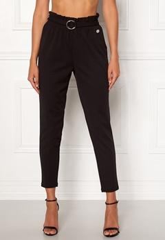 Chiara Forthi Paperbag Belt Pantaloni Black Bubbleroom.dk