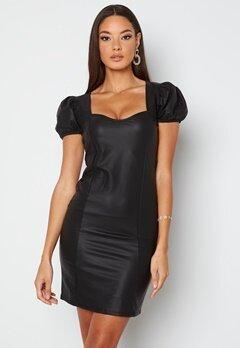Chiara Forthi Picciana PU Puff sleeve Dress Black bubbleroom.dk