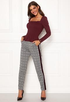 Chiara Forthi Pietra pants Grey / Checked Bubbleroom.dk