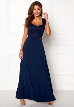 Chiara Forthi Piubella Maxi Dress Midnight blue Bubbleroom.dk