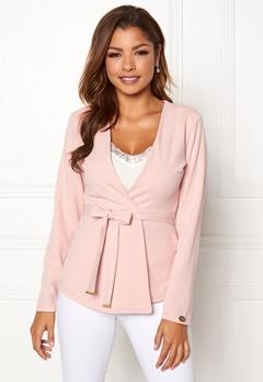 Chiara Forthi Pontia tie jacket Pink Bubbleroom.dk