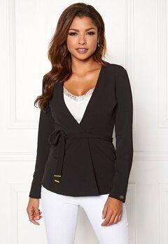Chiara Forthi Pontia tie jacket Black Bubbleroom.dk