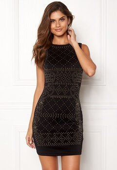 Chiara Forthi Portia studded dress Black / Gold Bubbleroom.dk