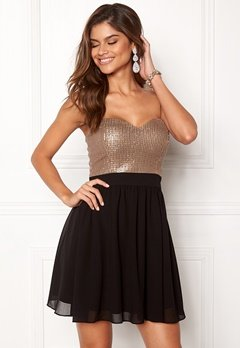 Chiara Forthi Reese sequin dress Black / Rose gold Bubbleroom.dk