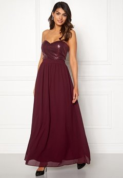 Chiara Forthi Reese sequin gown Wine-red Bubbleroom.dk