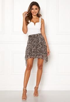 Chiara Forthi Renata Flounce Skirt Leopard Bubbleroom.dk