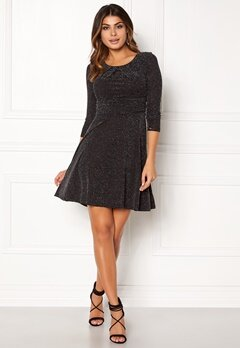 Chiara Forthi Rianne Lurex Dress Black / Silver Bubbleroom.dk