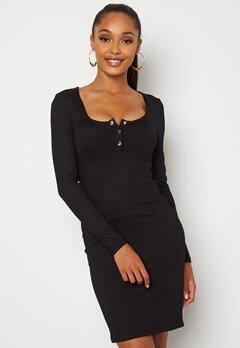 Chiara Forthi Richess rib dress Black Bubbleroom.dk