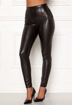 Chiara Forthi Rivalta faux leather pants Black Bubbleroom.dk