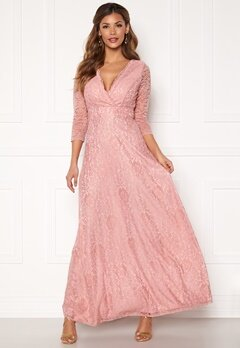 Chiara Forthi Riveria Lace Gown Dusty pink Bubbleroom.dk
