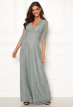 Chiara Forthi Riveria Lace Gown Green bubbleroom.dk