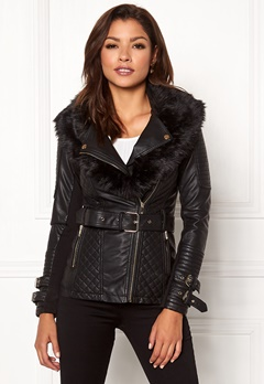 Chiara Forthi Roma Fake Leather Jacket Black Bubbleroom.dk