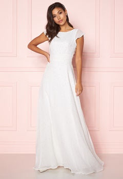 Chiara Forthi Rosanne pearl gown White Bubbleroom.dk