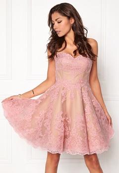 Chiara Forthi Rosetta Prom Gown Pink Bubbleroom.dk