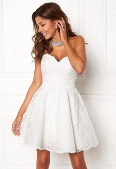 Chiara Forthi Rosetta Prom Gown White Bubbleroom.dk