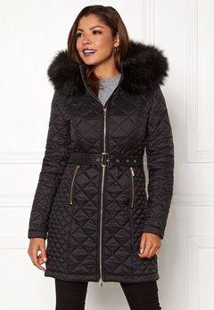Chiara Forthi Sarraceno Quilted Fur Jacket Black Bubbleroom.dk