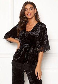 Chiara Forthi Sentiera Lace Kimono Black Bubbleroom.dk