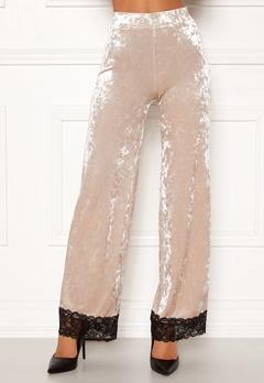 Chiara Forthi Sentiera Lace Pants Light beige Bubbleroom.dk