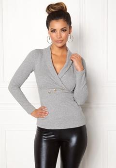 Chiara Forthi Shawl Collar Bodycon Sweatshirt  Bubbleroom.dk