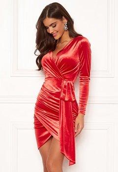 Chiara Forthi Snapshot Drape Dress Red Bubbleroom.dk