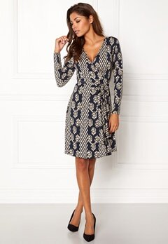 Chiara Forthi Sonnet Mini Wrap Dress Blue / Beige Bubbleroom.dk