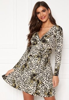 Chiara Forthi Sonnet Mini Wrap Dress Leopard / Black / Patterned Bubbleroom.dk