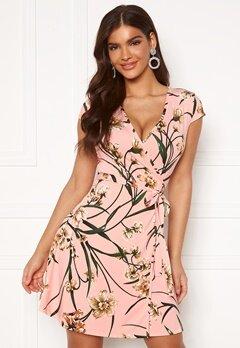 Chiara Forthi Sonnet Mini Wrap Dress s/s Pink / Floral Bubbleroom.dk